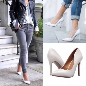 Report Dalia White Stiletto High Heel Pumps NIB